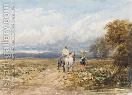 The Road By The Moor by David Cox - Reproduction Oil Painting