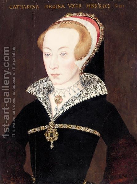 Portrait Of Catherine Parr (1512-1548) by (after) Holbein the Younger, Hans - Reproduction Oil Painting