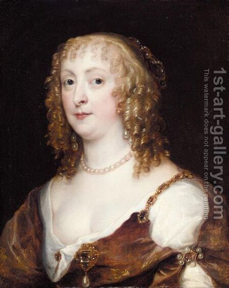 Portrait Of Lady Anne Carr, Countess Of Bedford (1615-1684) by (after) Dyck, Sir Anthony van - Reproduction Oil Painting