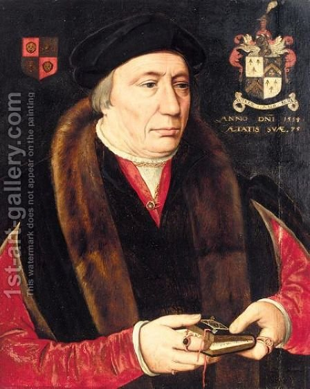 Portrait Of Alderman Robert Trappes (1479-1560) by (after) Holbein the Younger, Hans - Reproduction Oil Painting