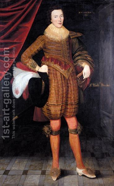 Portrait Of Sir Richard Broke by (after) Gilbert Jackson - Reproduction Oil Painting