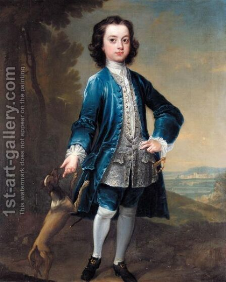 Portrait Of Benjamin Hatley Foote, When Twelve Years Old by Charles Jervas - Reproduction Oil Painting