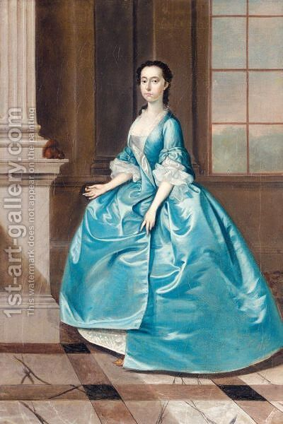 Portrait Of Betty Goodall, Mrs William Player by (after) Thomas Bardwell - Reproduction Oil Painting