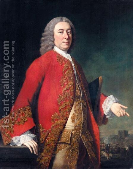 Portrait Of General James Grant (1720-1806) by Allan Ramsay - Reproduction Oil Painting