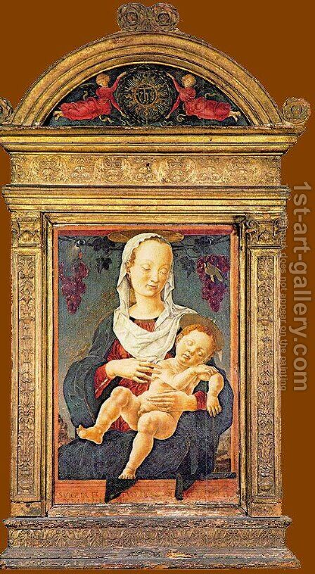 The Madonna of the Zodiac c. 1453 by Cosme Tura - Reproduction Oil Painting