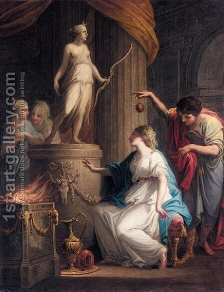 Orestes And Iphigenia At Tauris by Angelica Kauffmann - Reproduction Oil Painting