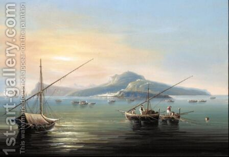 Veduta Di Capri by Italian School - Reproduction Oil Painting