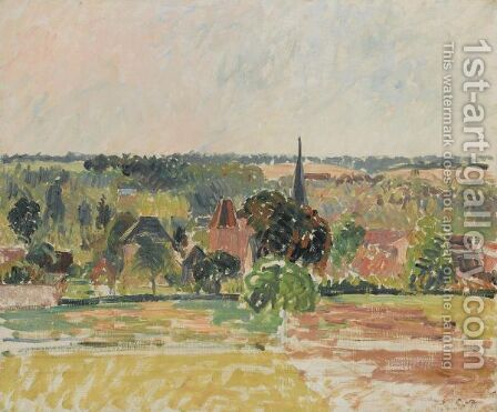 Vue D'Eragny by Camille Pissarro - Reproduction Oil Painting