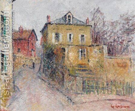 Rue De Village by Gustave Loiseau - Reproduction Oil Painting