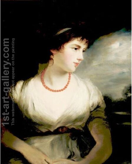 Portrait Of The Countess Of Oxford by (after) Hoppner, John - Reproduction Oil Painting