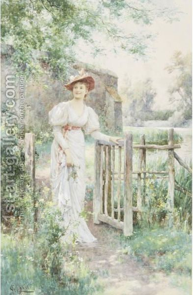 The Visitor by Alfred Glendening - Reproduction Oil Painting