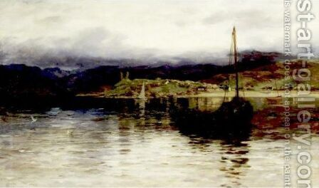 View Of The Scottish Coast by Colin Hunter - Reproduction Oil Painting