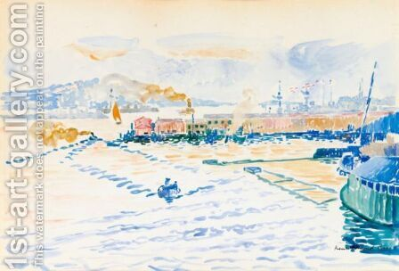 Le Port De Toulon by Henri Edmond Cross - Reproduction Oil Painting