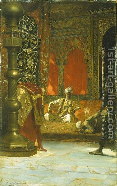 Hommage Au Sultan by Constant Benjamin Jean Joseph - Reproduction Oil Painting