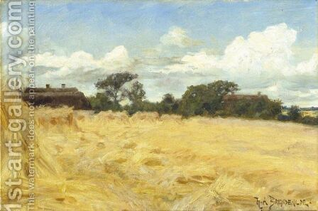 Hvedemarker (Wheatfields) by Hans Anderson Brendekilde - Reproduction Oil Painting
