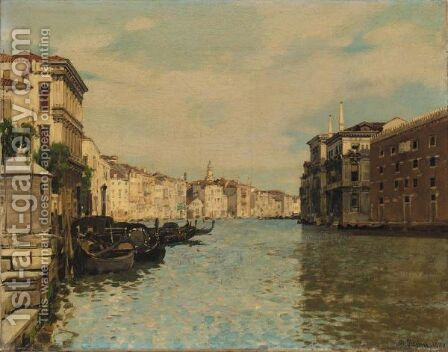 The Grand Canal, Venice by Alberto Pasini - Reproduction Oil Painting