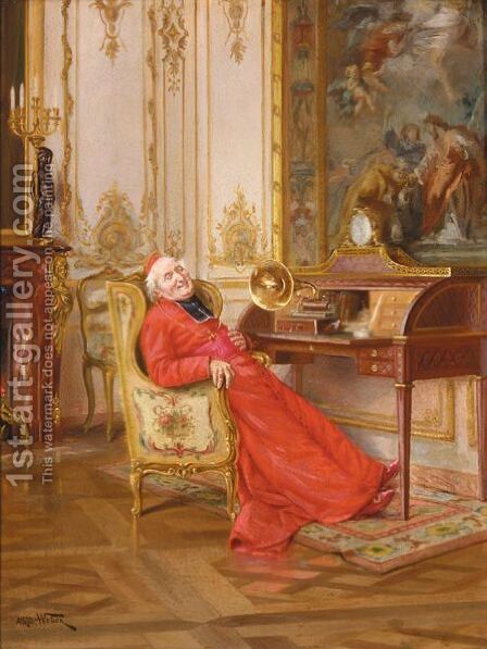Une Interlude Musicale by Alfred Charles Weber - Reproduction Oil Painting