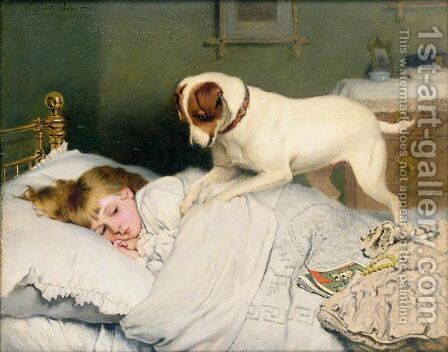 Time To Wake Up by Charles Burton Barber - Reproduction Oil Painting