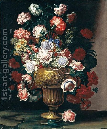 Natura Morta Con Vaso Di Fiori by Andrea Scacciati - Reproduction Oil Painting