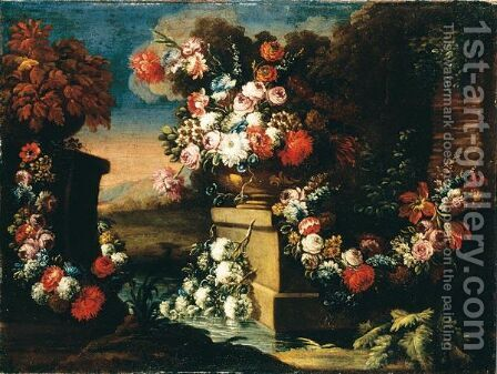 Natura Morta Con Fiori by (after) Francesco Lavagna - Reproduction Oil Painting