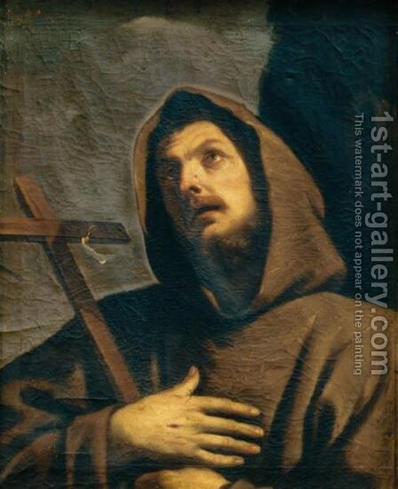 San Francesco Con Le Stigmate by Italian School - Reproduction Oil Painting