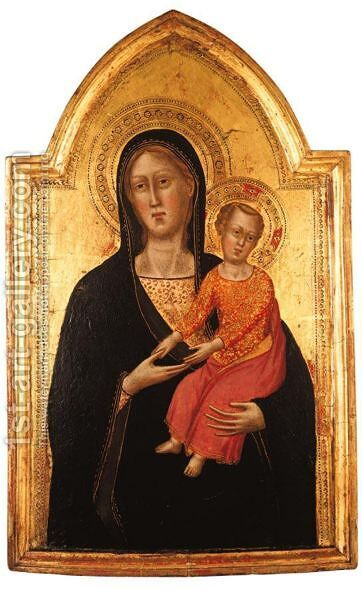 Madonna Col Bambino by Giovanni Battista Salvi, Il Sassoferrato - Reproduction Oil Painting