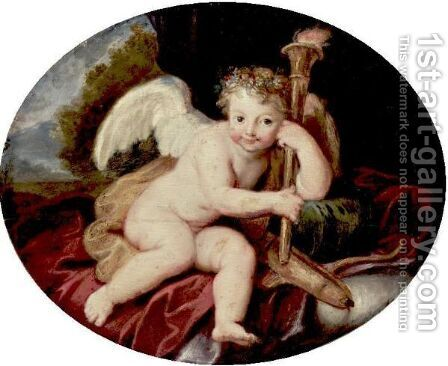 Cupid by Antoine Coypel - Reproduction Oil Painting
