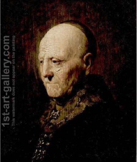 Portrait Of An Old Man 2 by (after) Harmenszoon Van Rijn Rembrandt - Reproduction Oil Painting