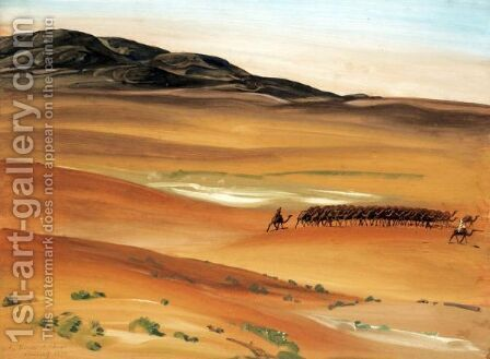 Caravan In The Sahara by Alexander Evgenievich Yakovlev - Reproduction Oil Painting