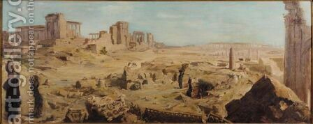 View Of Palmyra by Alexander Evgenievich Yakovlev - Reproduction Oil Painting