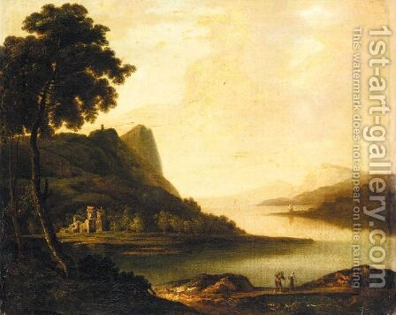 An Extensive Lake Landscape, Possibly Lake Killarney by (after) William Ashford - Reproduction Oil Painting