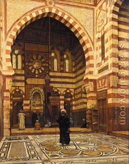 Mosque Of Ezbeck, Cairo, Egypt by Aloysius O'kelly - Reproduction Oil Painting
