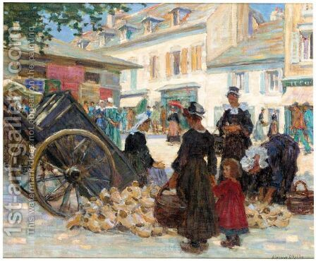 The Market by Aloysius O'kelly - Reproduction Oil Painting