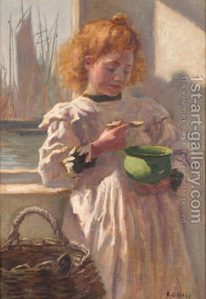 A Hearty Breakfast by Aloysius O'kelly - Reproduction Oil Painting
