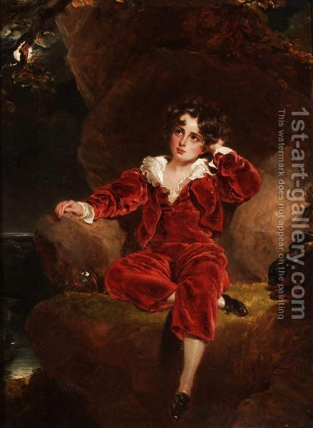 Portrait Of Charles William Lambton (1818-1831) by (after) Lawrence, Sir Thomas - Reproduction Oil Painting
