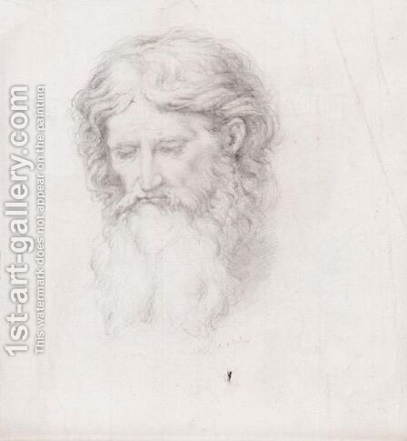 A Drawing of a bearded head by (after) Sir Edward John Poynter - Reproduction Oil Painting