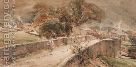 Bridge At Buckden, Wharfedale In Yorkshire by Arthur Reginald Smith - Reproduction Oil Painting