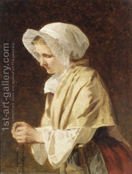 Boulogne Fisherwoman by James Hayllar - Reproduction Oil Painting