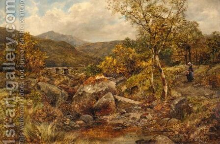 Path And Spring, Near Capel Curig by James Callowhill - Reproduction Oil Painting