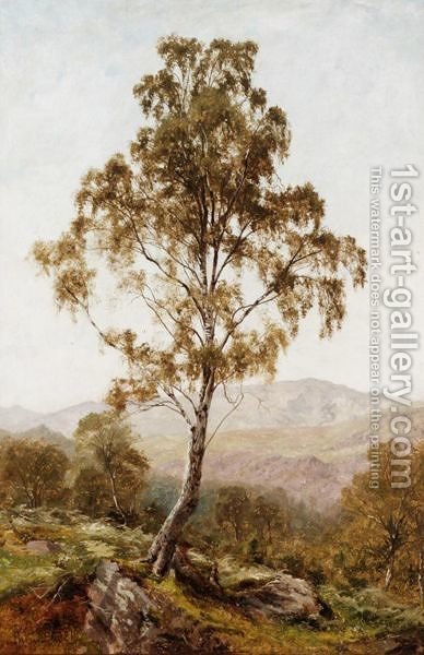 Resting Beneath The Birch Tree by Benjamin Williams Leader - Reproduction Oil Painting