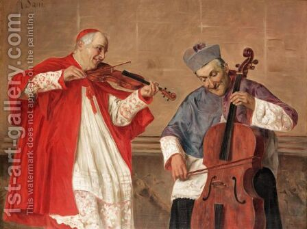 The Duet by Alessandro Sani - Reproduction Oil Painting
