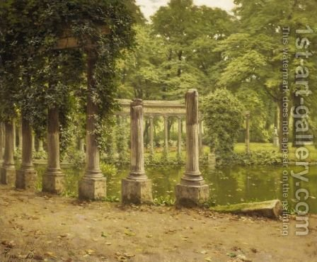 Le Parc Monceau by Henri Biva - Reproduction Oil Painting
