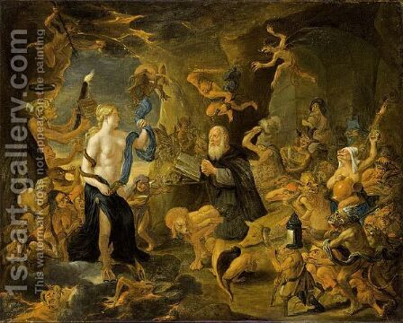 The Temptation Of St. Anthony by Matheus van Helmont - Reproduction Oil Painting