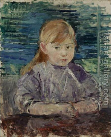 Fillette En Mauve by Berthe Morisot - Reproduction Oil Painting