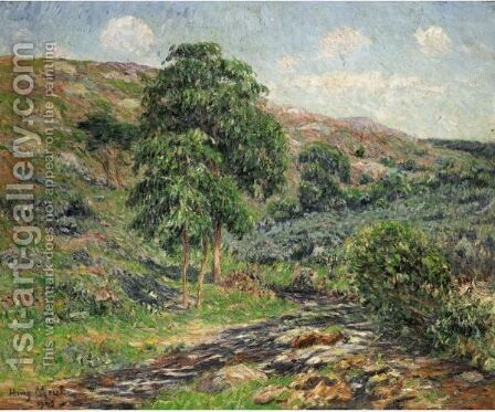 Les Monts D'Arree, Le Dour-Du by Henri Moret - Reproduction Oil Painting