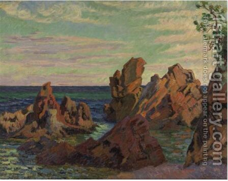 Les Rochers De L'Ile Besse by Armand Guillaumin - Reproduction Oil Painting