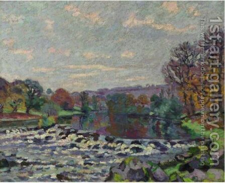 Le Barrage De Genetin by Armand Guillaumin - Reproduction Oil Painting