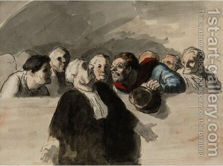Le Defenseur by Honoré Daumier - Reproduction Oil Painting