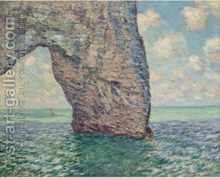 La Manneporte, Maree Haute by Claude Oscar Monet - Reproduction Oil Painting