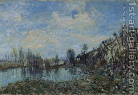 Prairie Inondee by Alfred Sisley - Reproduction Oil Painting